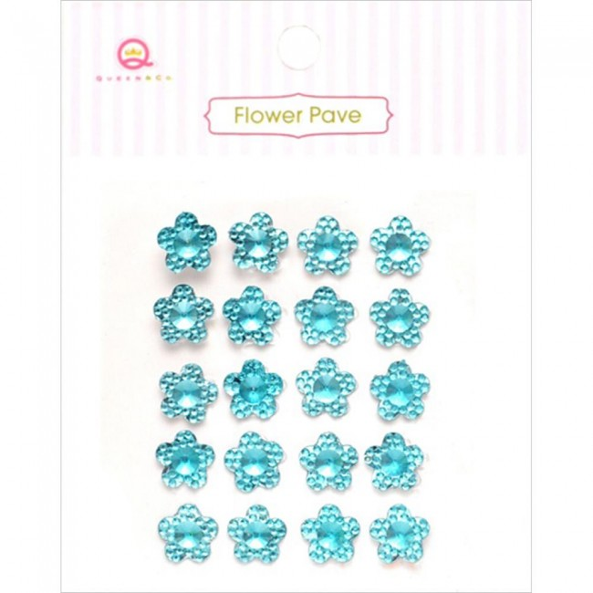 Flower Pave Blue