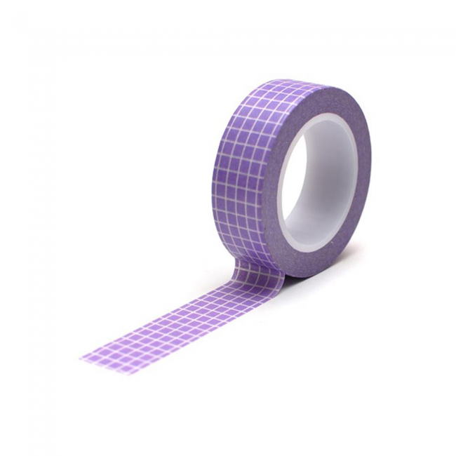 Washi Tape Grid Lavender
