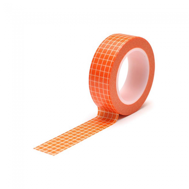Washi Tape Grid Orange