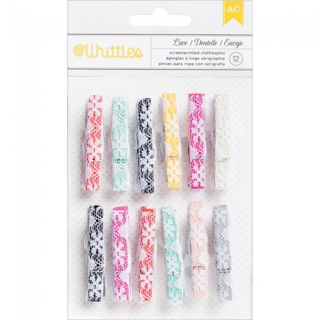 Whittles Clothespins Lace