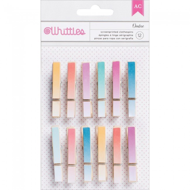 Whittles Clothespins Ombre