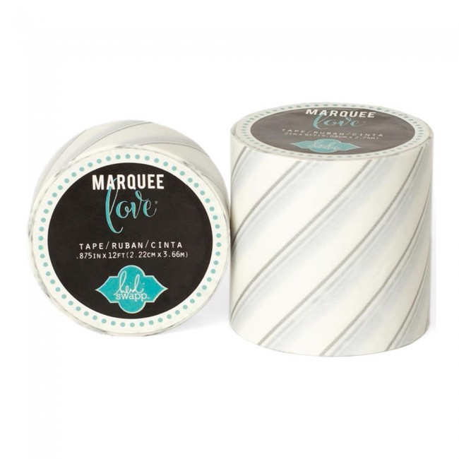 Marquee Washi Silver Foil Pinstripe S