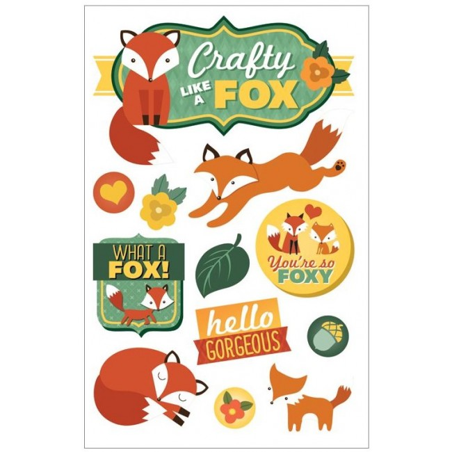 Crafty Like A Fox 3D Stickers