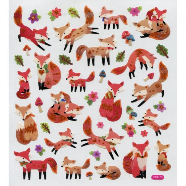 Fun With Foxes Stickers