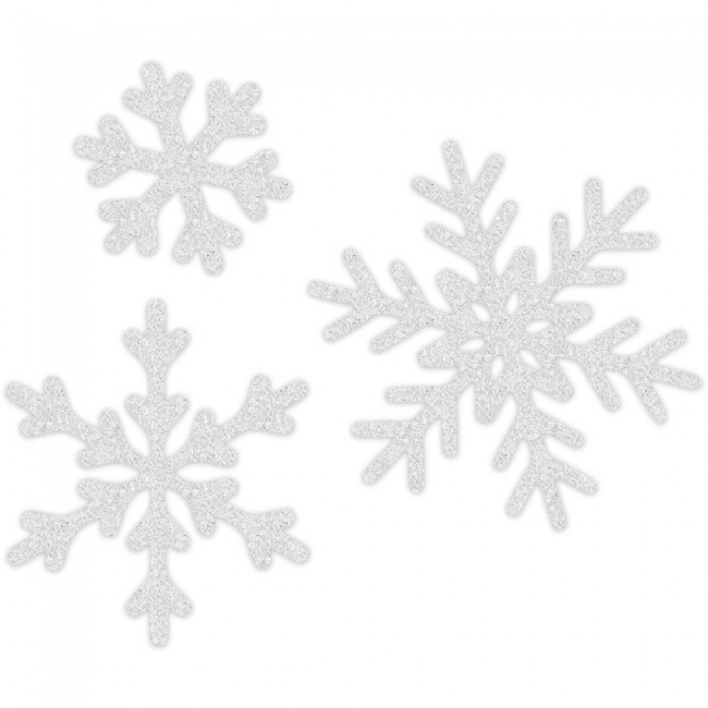 White Glitter Snowflakes Wall Art Oh What Fun