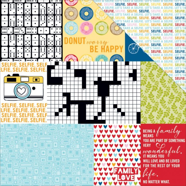 Papel estampado Doble cara 12x12-Daily Details Family Frenzy