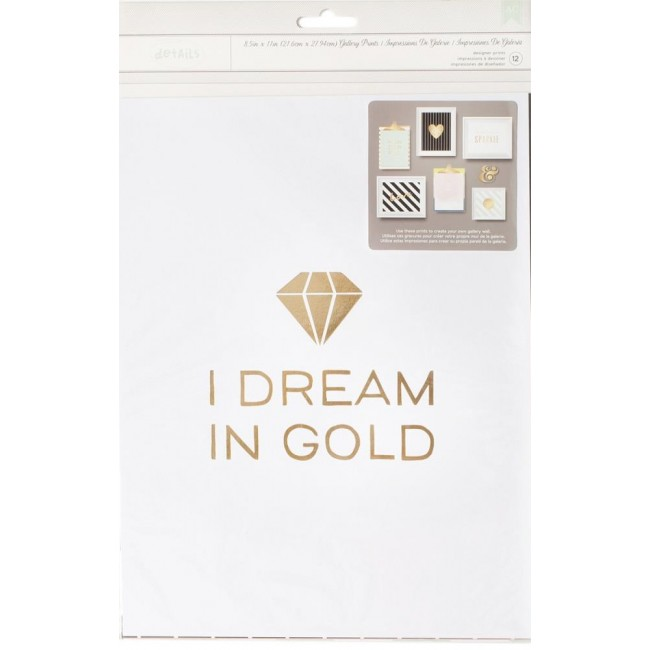 I Dream In Gold Gallery Wall Pack Desktop Essential