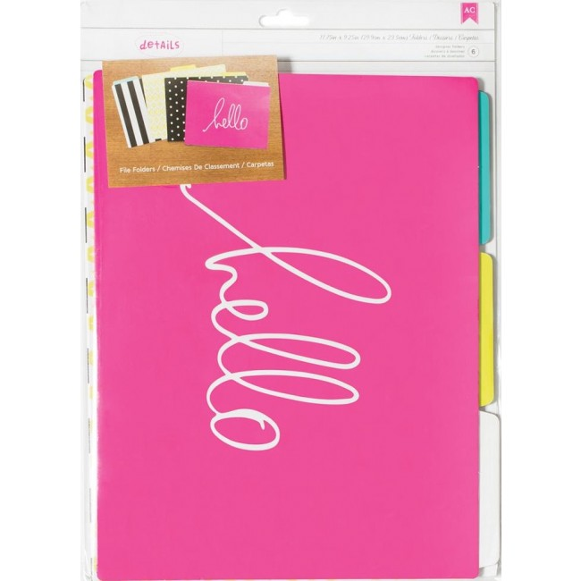 "Hello File Folders 10"" x 6"" Desktop Essentials"