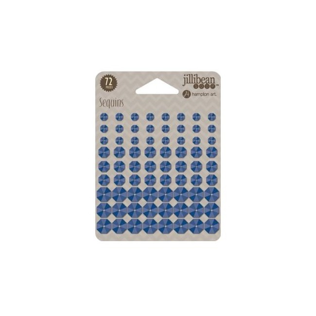Navy Blueberry Adhesive Sequins