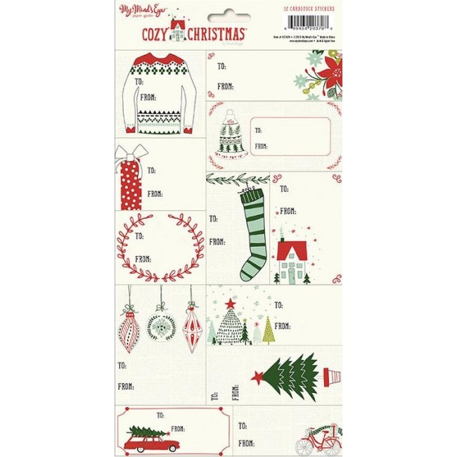 Tags Stickers Cozy Christmas