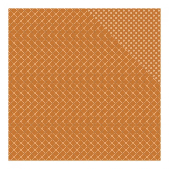 Papel estampado Doble cara 12x12 Fall Harvest Quatrefoil/Dot