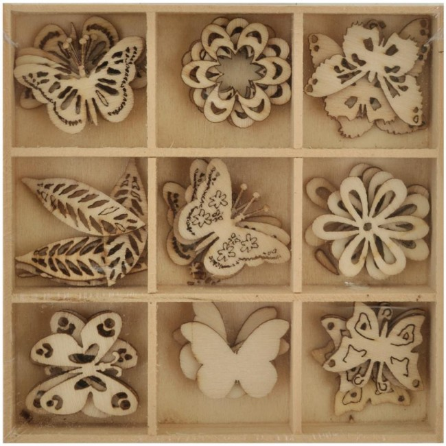 Butterfly Wooden Shapes Lucky Dip
