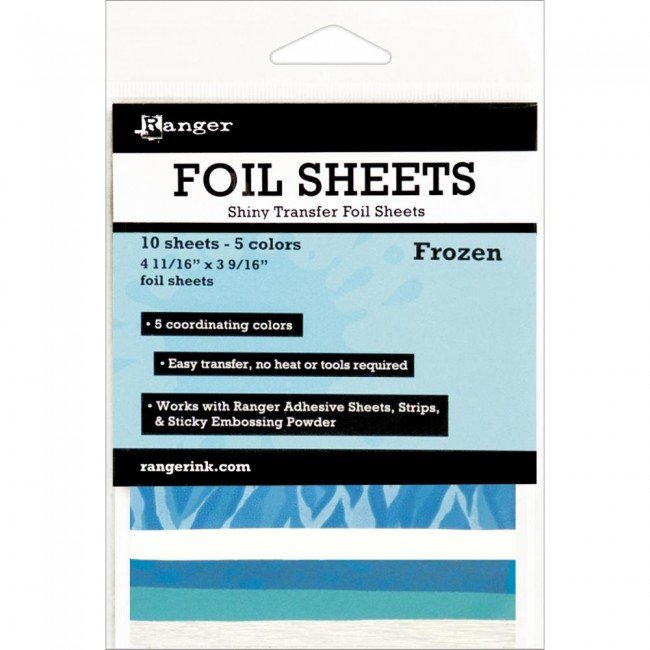 Frozen Shiny Transfer Foil Sheets
