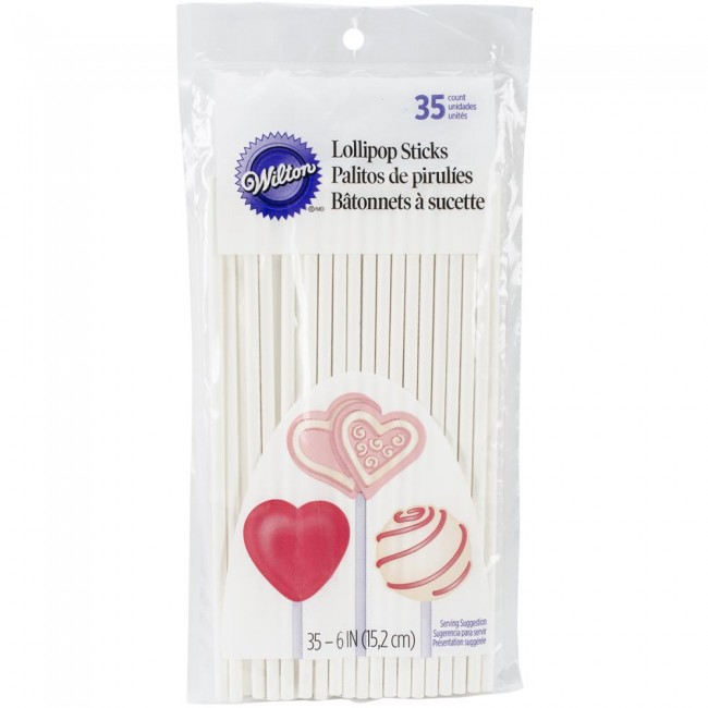 "Lollipop Sticks 6"" 35 un."