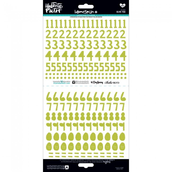 Homespun Olive You Numbers Illustrated Faith