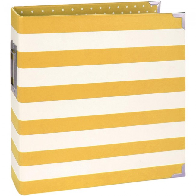 "Sn@p Binder 6"" x 8"" Yellow Stripe"