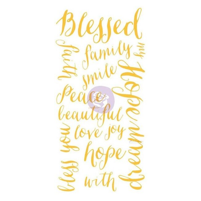 Blessed Words Adhesive Rub Ons