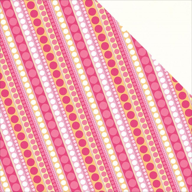 Papel estampado Doble cara 12x12 Party Girl Diagonal Dot