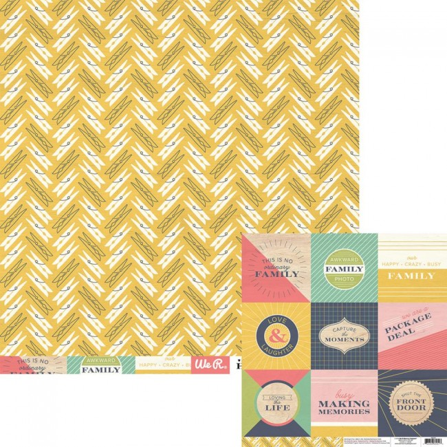 Papel estampado Doble cara 12x12-Honey, Im Home-Real Life