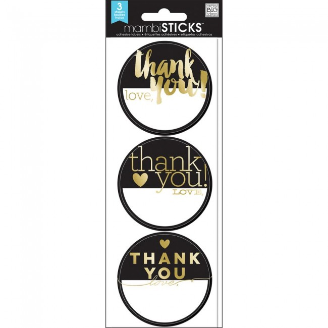 Thank You Gold Label Stickers