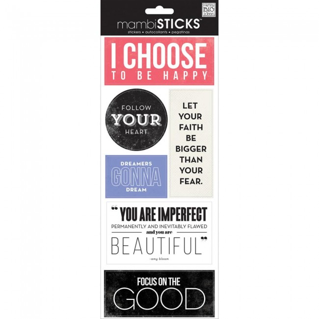 I Choose Sayings Stickers