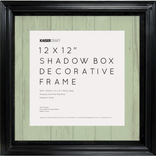 "Black Shadow Box Frame 12""x12"""