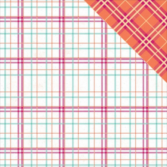 Papel estampado Doble cara 12x12 Mad 4 Plaid Delightful Crawford