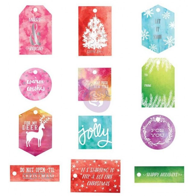 Tags Sweet Peppermint Watercolor Resist