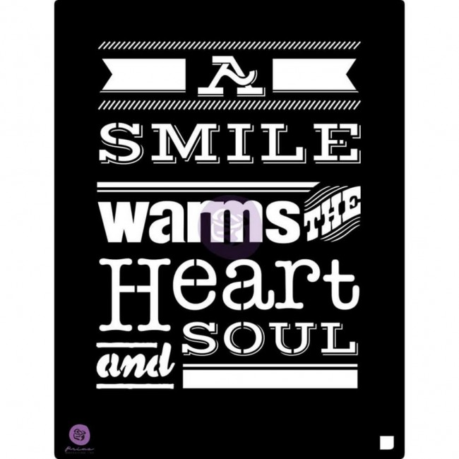 """Máscara 9.5"""" x 12"""" A Smile Warms The Heart And Soul"""