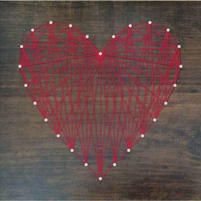 "Kit String Art 10""x10"" Heart"
