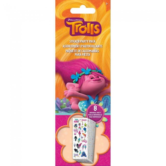 Pegatinas Trolls Party Pack