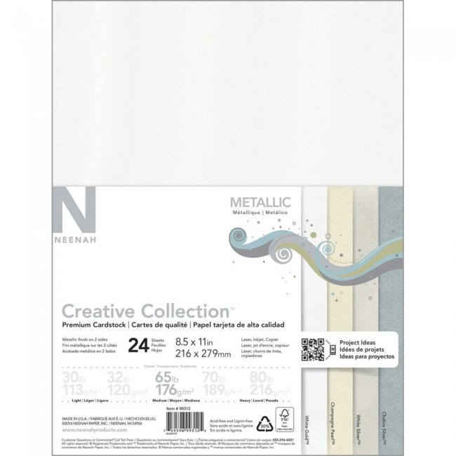 Kit Cartulina Neenah 8,5x11 - Metallic