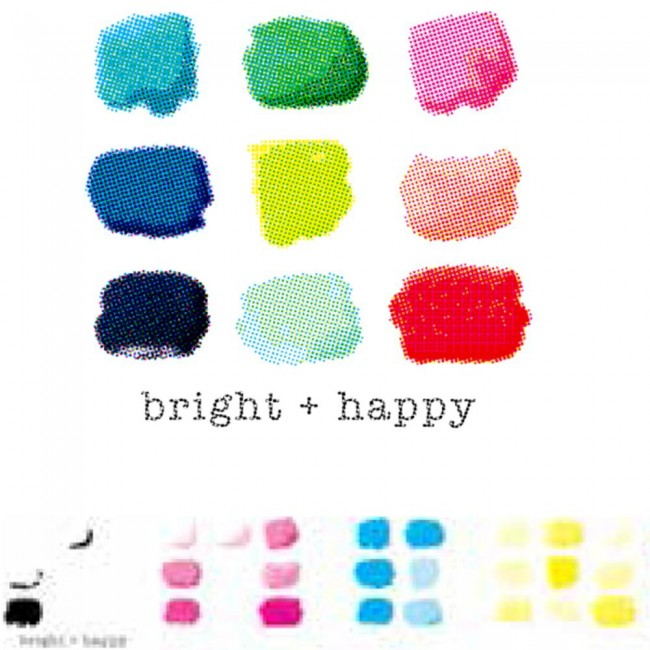 Sello acrílico CMYK - Bright + Happy