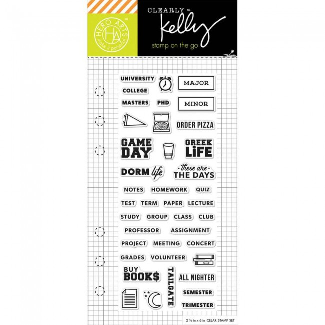 Sello acrílico Kelly Purkey College Life Planner