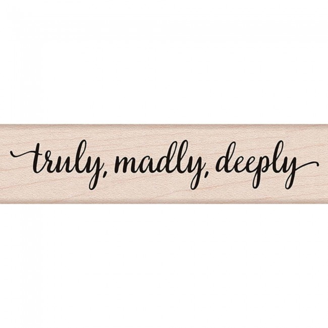 Sello madera Truly. Madly. Deeply