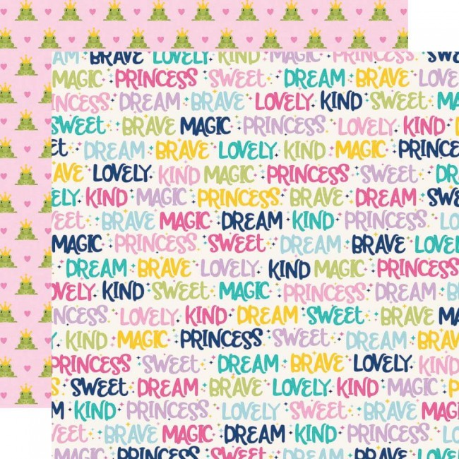 Papel Estampado Doble Cara 12x12 Little Princess Sparkle & Shine