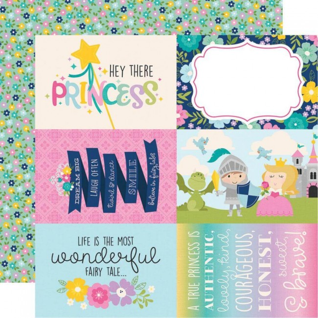 "Papel Estampado Doble Cara 12x12 Little Princess 4""X6"" Vertical Elements"