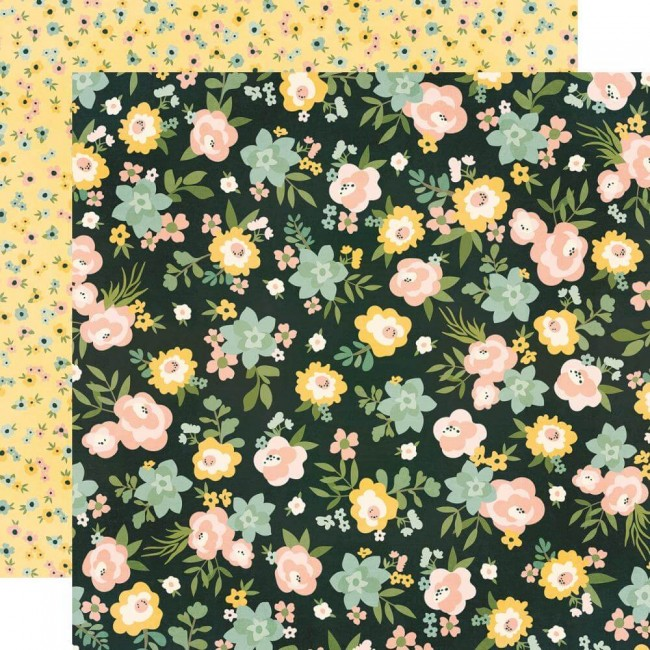 Papel Estampado Doble Cara 12x12 Spring Farmhouse Live Simply