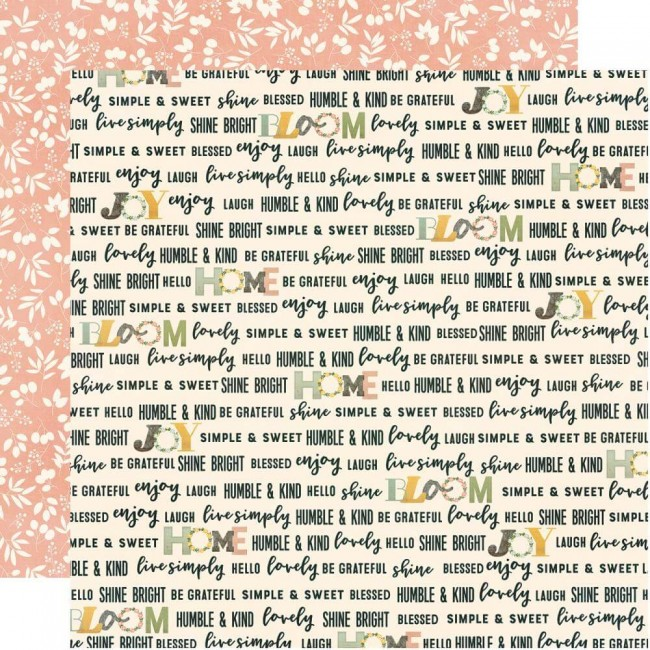 Papel Estampado Doble Cara 12x12 Spring Farmhouse Love This Life