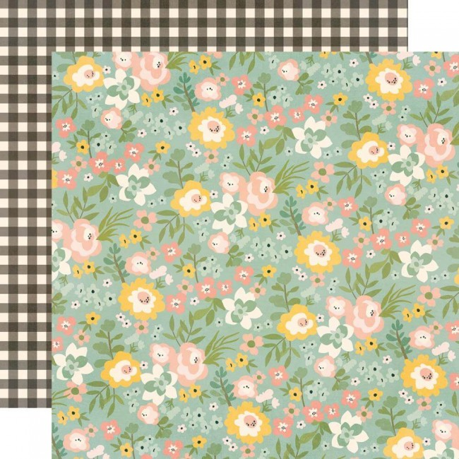 Papel Estampado Doble Cara 12x12 Spring Farmhouse Gather Beauty