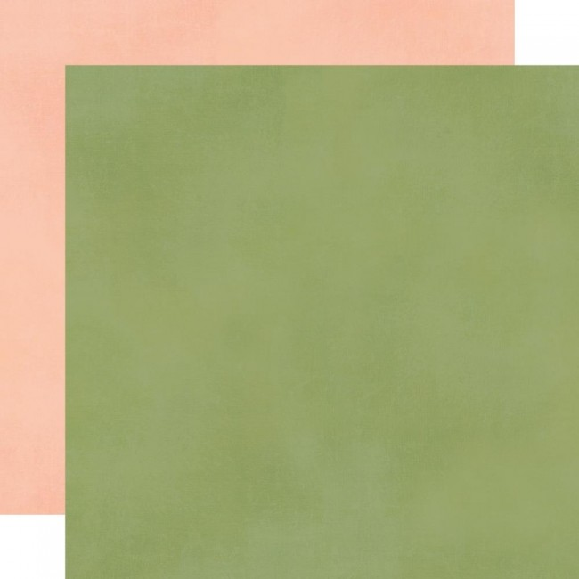 Papel Estampado Doble Cara 12x12 Spring Farmhouse Blush Green Simple Basic
