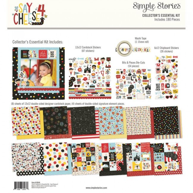 Kit Papeles Estampados 12x12 Say Cheese 4 Collector's Essential