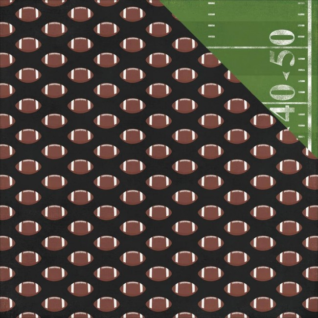 Papel Estampado Doble Cara 12x12 - Football - Game Day