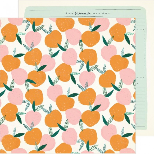 Papel Estampado Doble Cara 12x12 Sunny Days Peachy