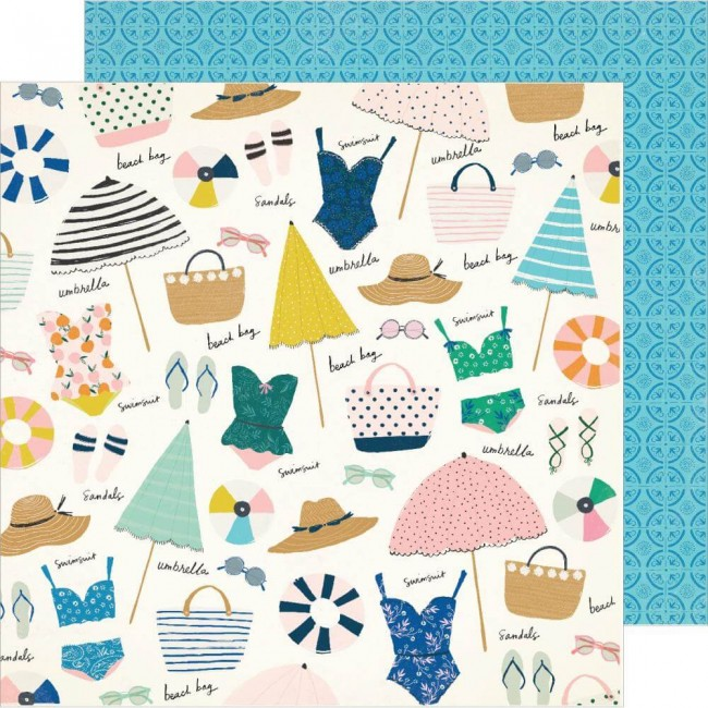 Papel Estampado Doble Cara 12x12 Sunny Days Sunkissed