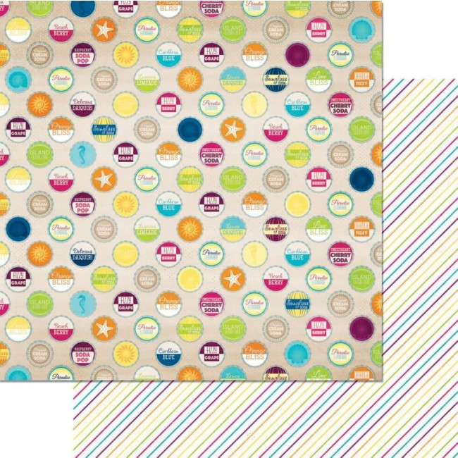 Papel Estampado Doble Cara 12x12 - Make A Splash - Summertime