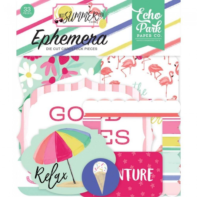 Die Cuts Best Summer Ever Icons