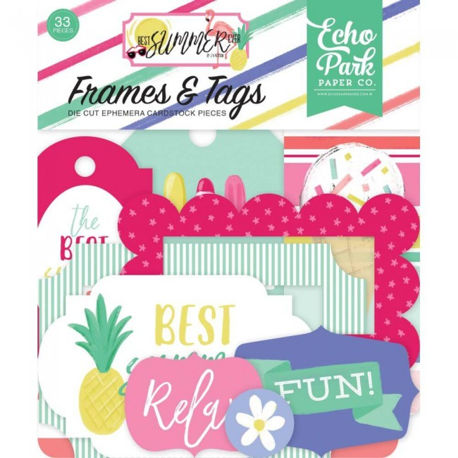 Die Cuts Best Summer Ever Frames & Tags