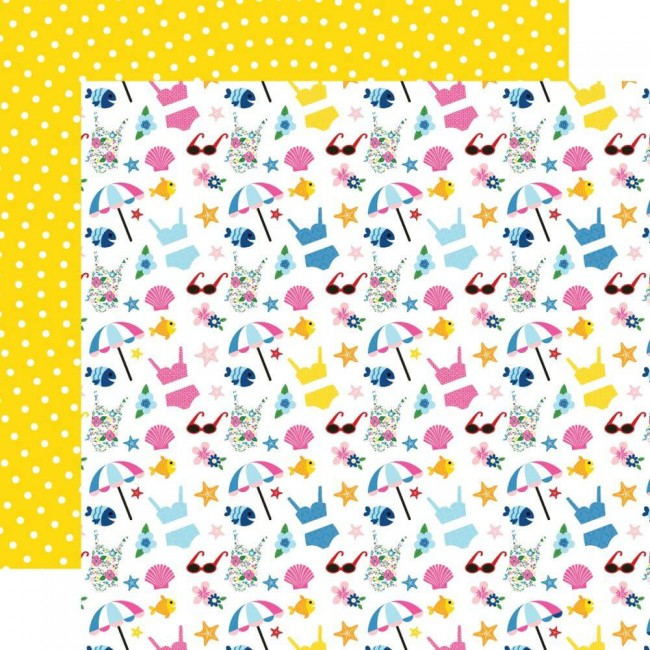 Papel Estampado Doble Cara 12x12 I Love Summer Hello Summer