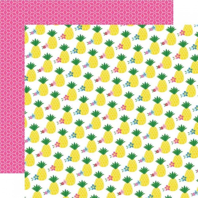 Papel Estampado Doble Cara 12x12 I Love Summer Pineapple Paradise